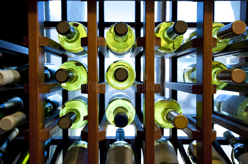 Download Wine Bottles In Rack Royalty Free Stock Photography - Image: 21538427