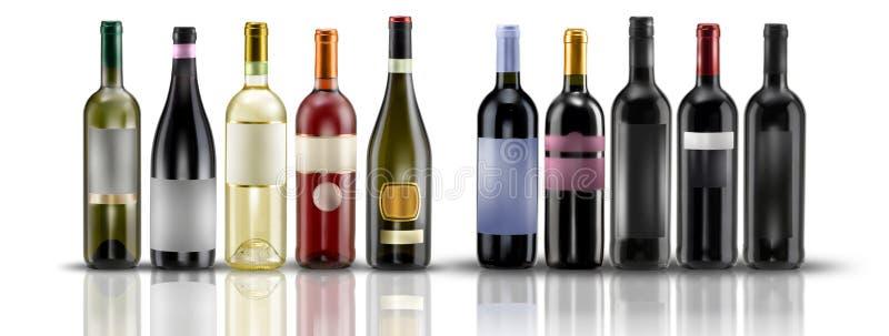 Wine bottles stock images