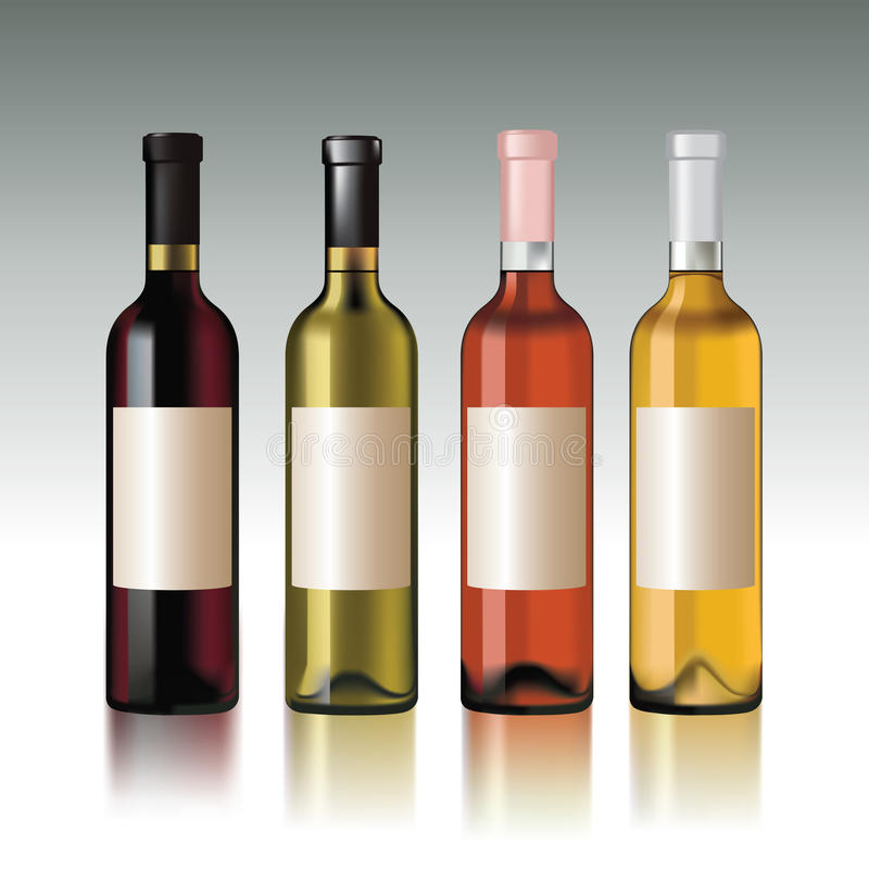 Wine bottles stock illustration