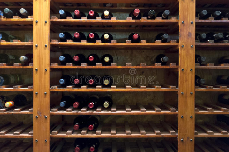 Download Wine Bottles On Shelf Stock Image - Image: 22681041