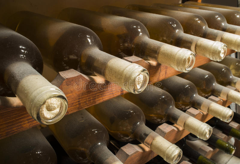 Download Wine bottles on shelf stock image. Image of stacked, cork - 31369081