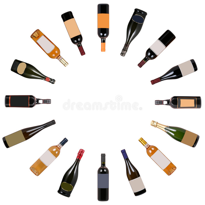 Download Wine bottles vortex stock image. Image of isolated, label - 1466305