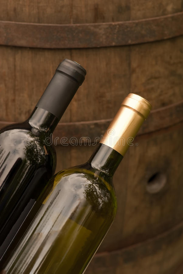 Wine Bottles In The Winery Royalty Free Stock Photography