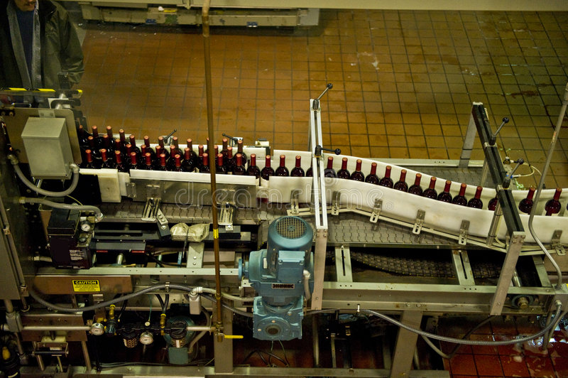 Download Wine bottling line stock image. Image of bottle, automated - 4196143