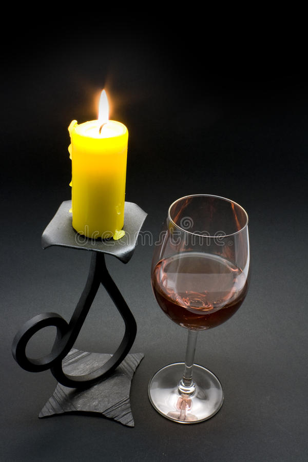 Download Wine and candle stock photo. Image of light, drink, romantic - 22045442