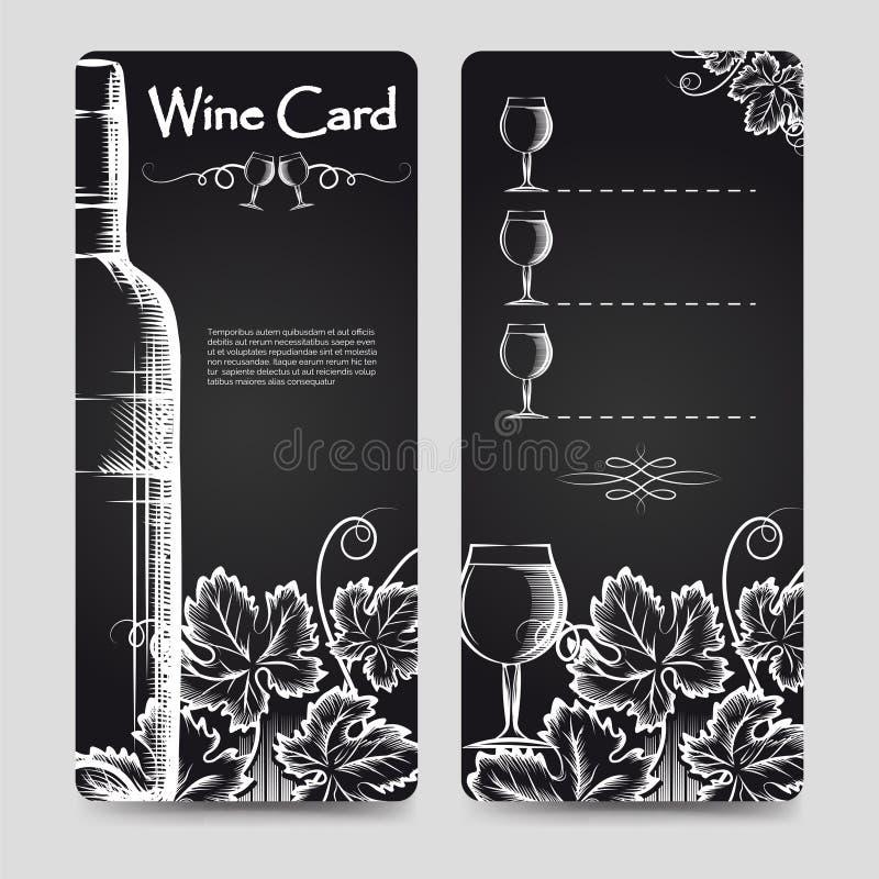Wine card menu flyers template vector illustration