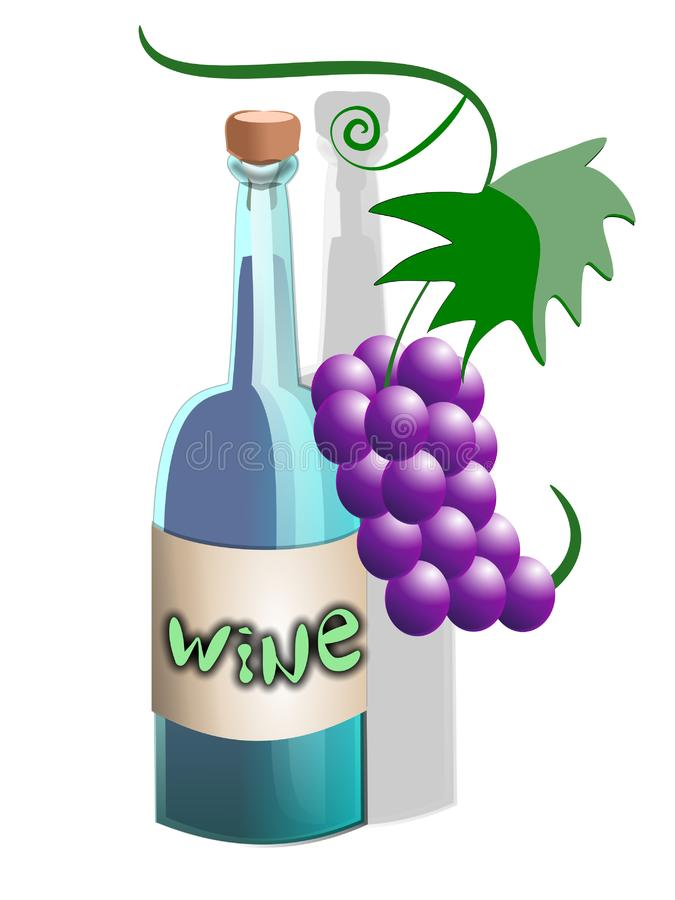 Download Wine cartoon bottle stock illustration. Illustration of design - 5840784