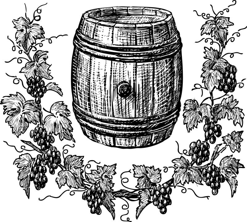 Free Wine Cask And Grapevine Royalty Free Stock Photo - 30743295