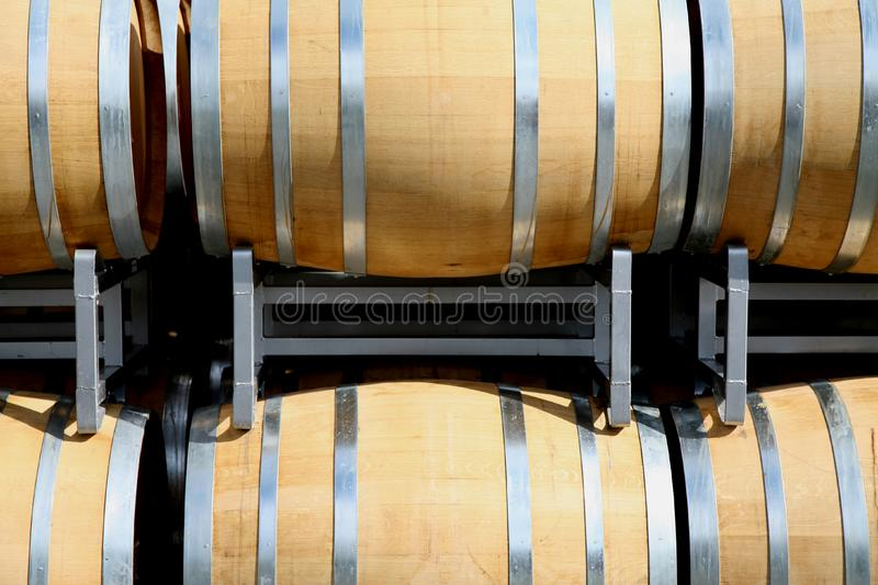 Wine Casks Front royalty free stock images