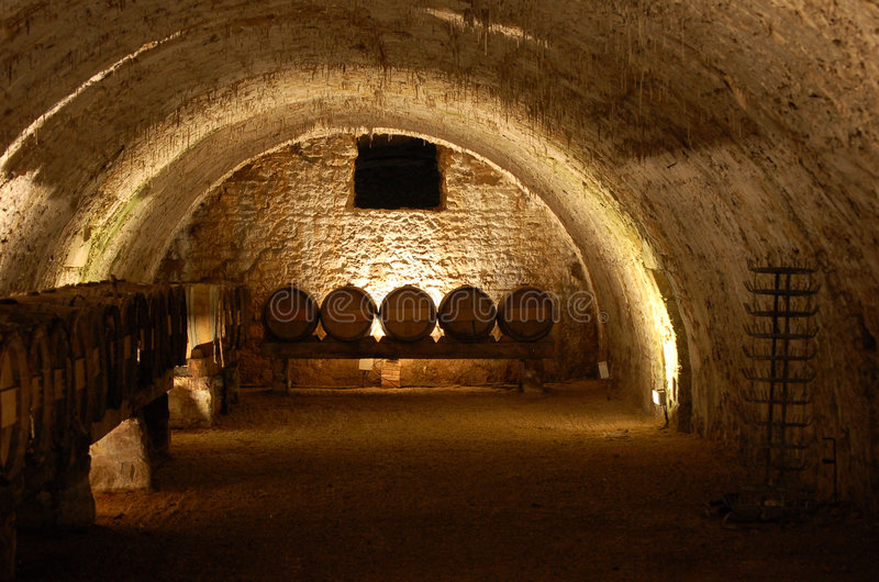 Wine cave royalty free stock photos