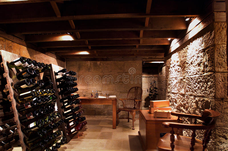 Download Wine Cellar stock image. Image of home, private, wine - 12618535
