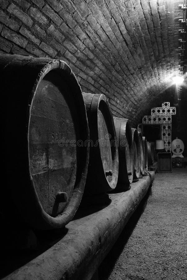 Wine cellar. Barrels of wine.South Moravia,Czech republic stock images