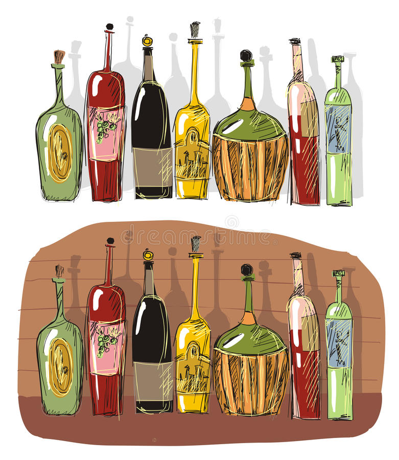 Download Wine cellar with beeswing stock vector. Image of ancient - 20388803