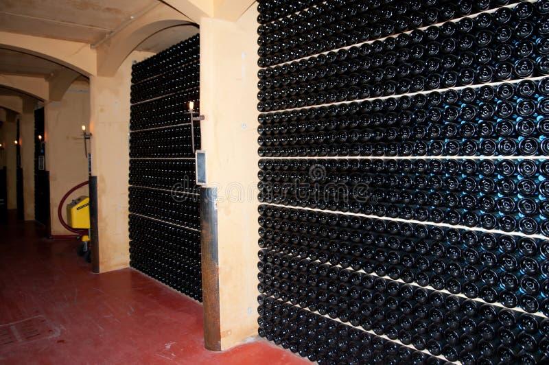 Wine cellar (Italy, Franciacorta) stock photography