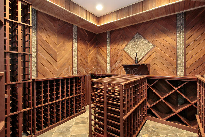 Download Wine Cellar With Multiple Racks Stock Photo - Image of wood, upscale: 13028766