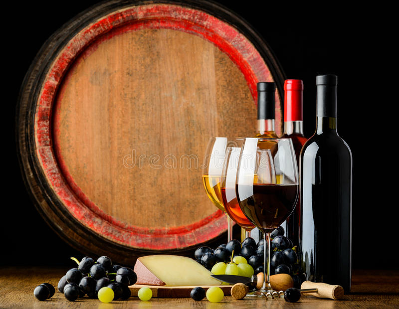 Wine cellar and wine royalty free stock photography