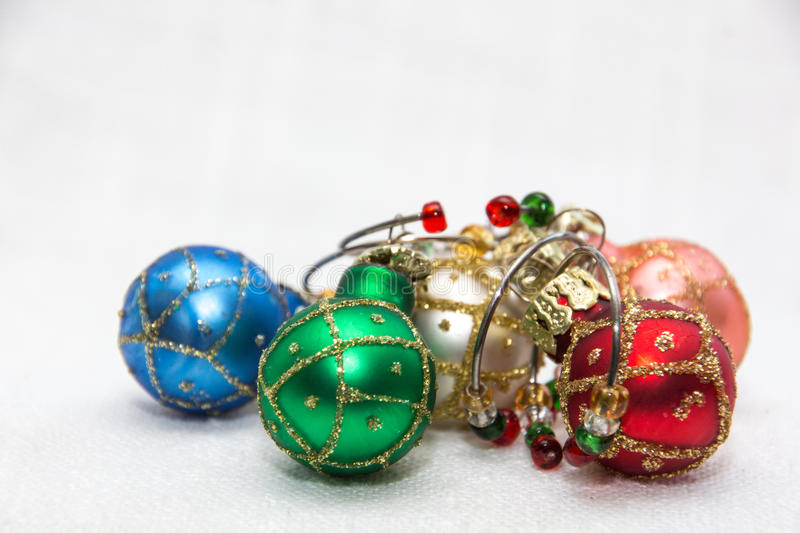 Wine charms. Christmas ornements glass of wine charms royalty free stock images