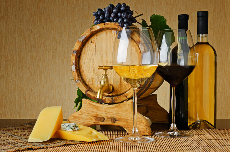 Download Wine and cheese stock image. Image of club, slice, grape - 23713193