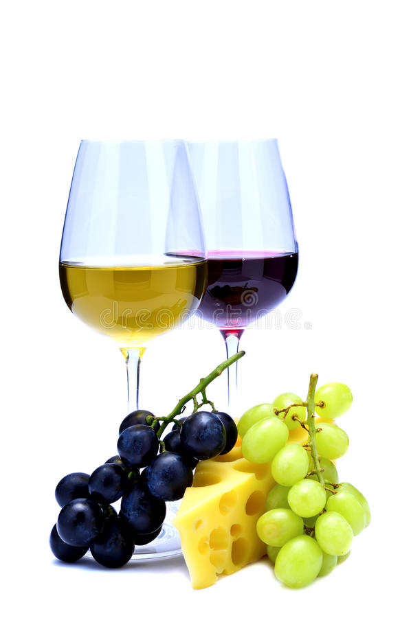 Download Wine, cheese and grapes stock photo. Image of restaurant - 19409010