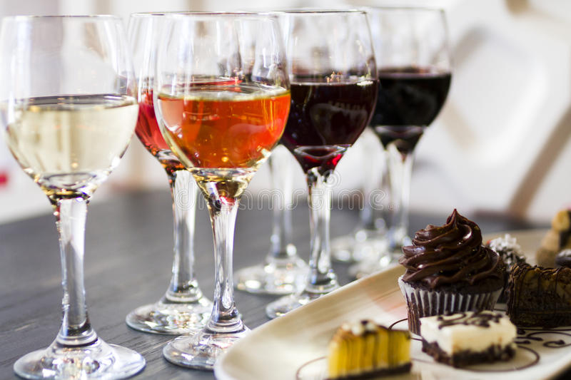 Wine and Chocolates royalty free stock image