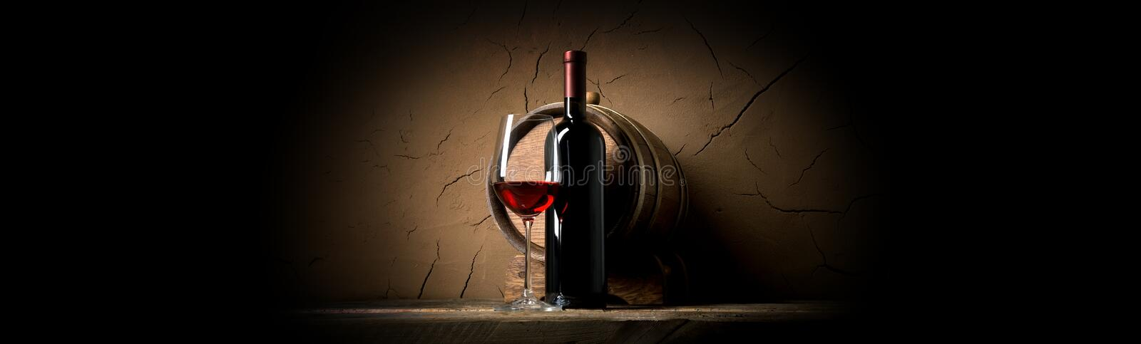 Wine and clay wall stock photos