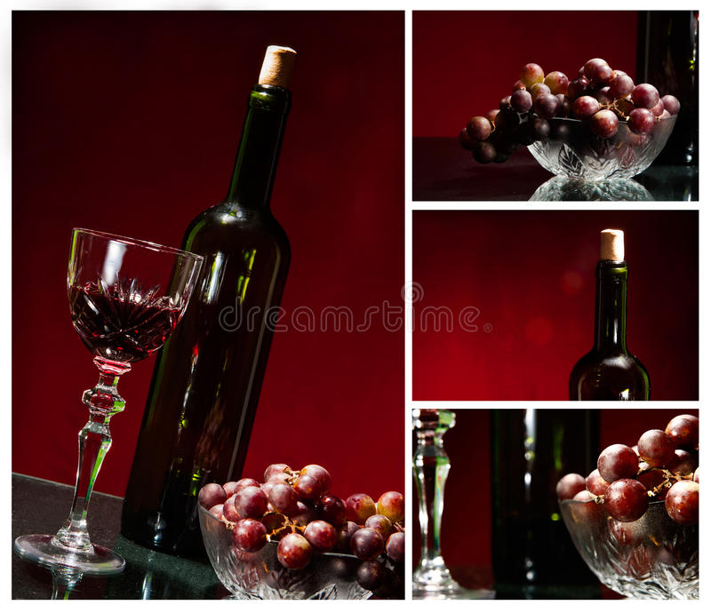 Wine collage royalty free stock photos