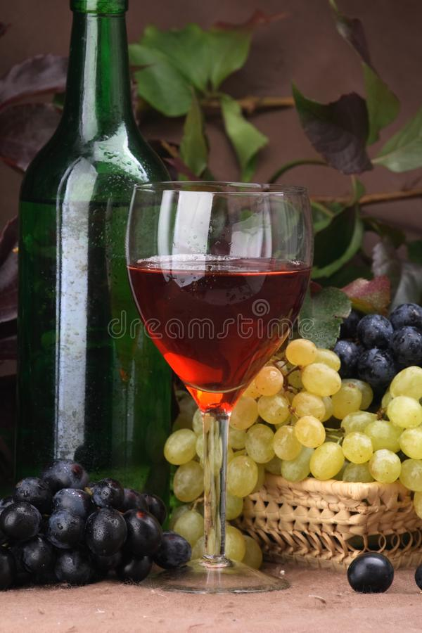 Wine composition Red wine royalty free stock photos