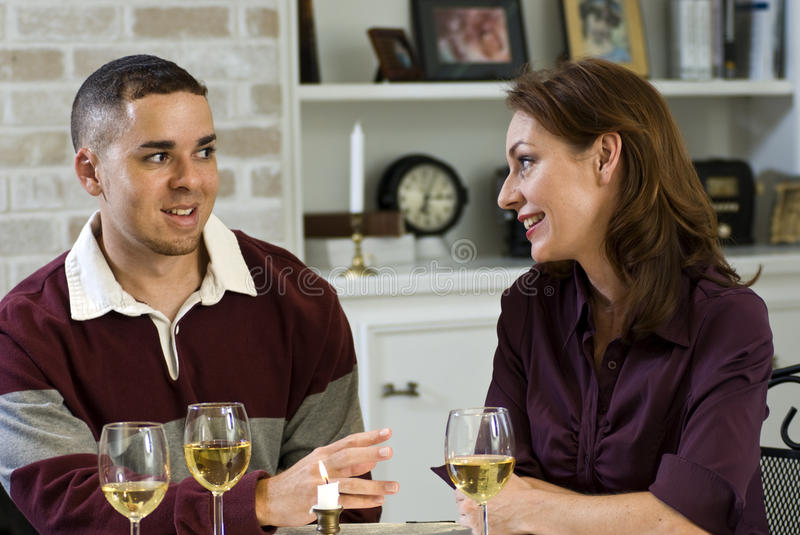 Wine and Conversation stock photography