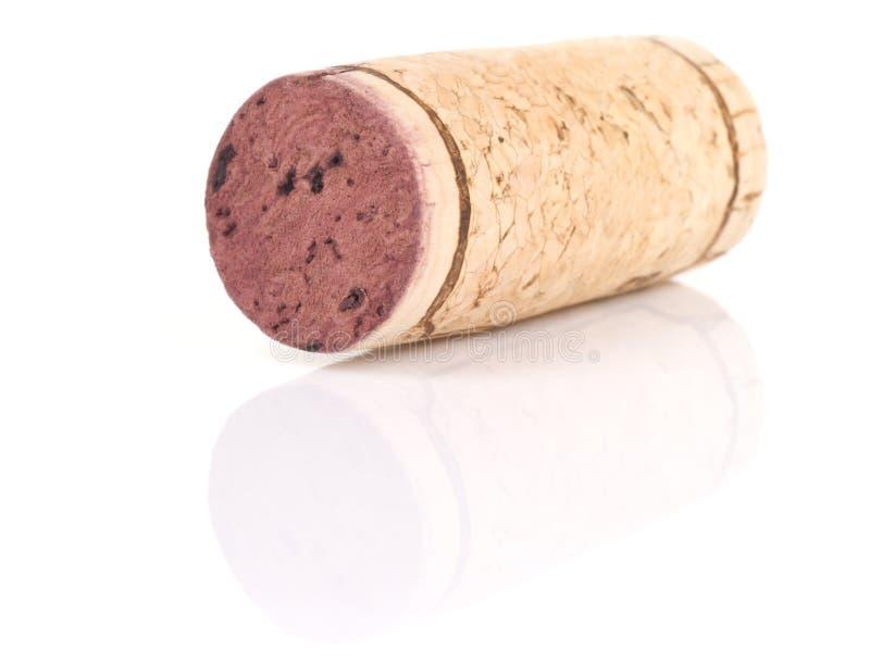 Wine cork. Isolated on white, shallow focus, macro stock photography