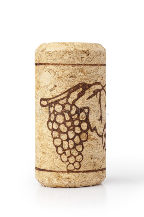 Wine cork. Isolated on a white background royalty free stock images