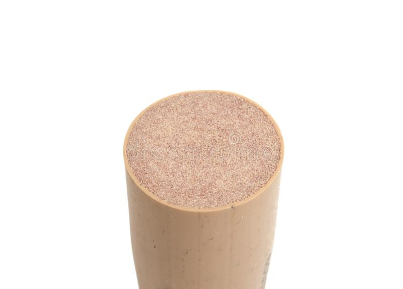 Wine cork for bottle isolated. On the white stock image