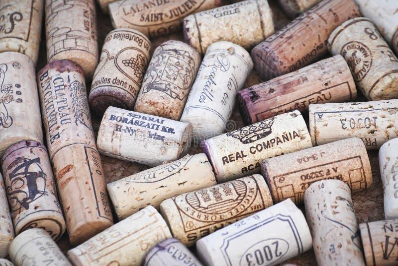 Wine cork stock photos