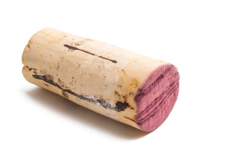 Wine cork isolated. On white background stock image