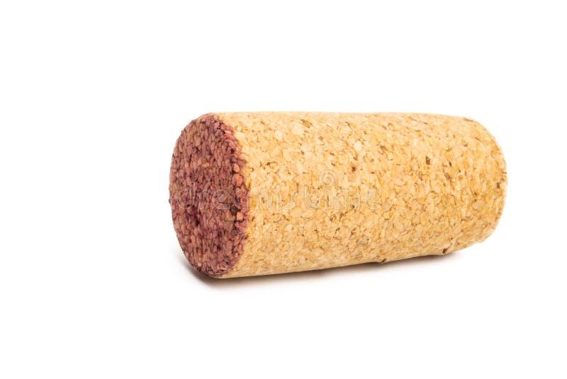Wine cork isolated. On white background royalty free stock images