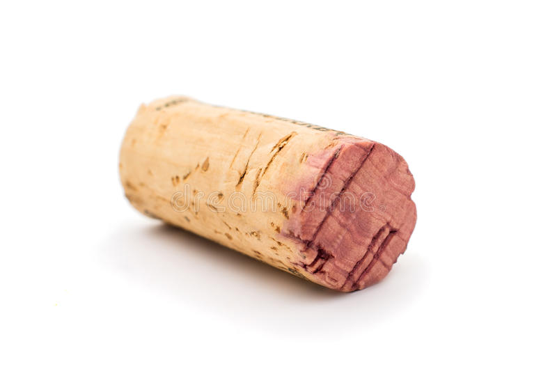 Wine cork. Isolated on a white background stock photos
