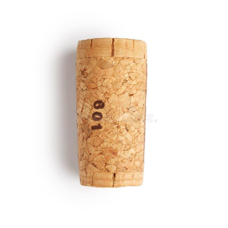 Wine cork. Isolated on white background royalty free stock photos