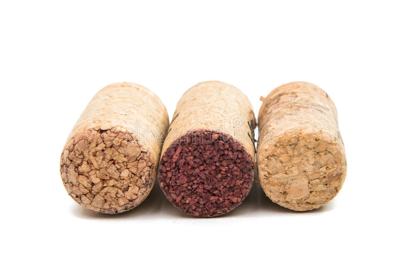 Wine cork. On a white background royalty free stock photography