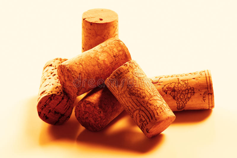 Wine Corks. Old looking pile of wine corks stock images