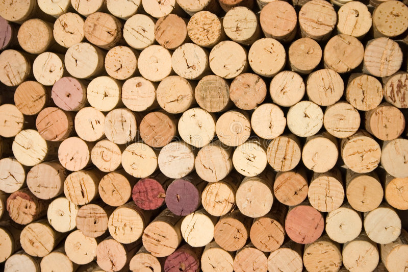 Wine corks. Background pattern of wine bottles corks