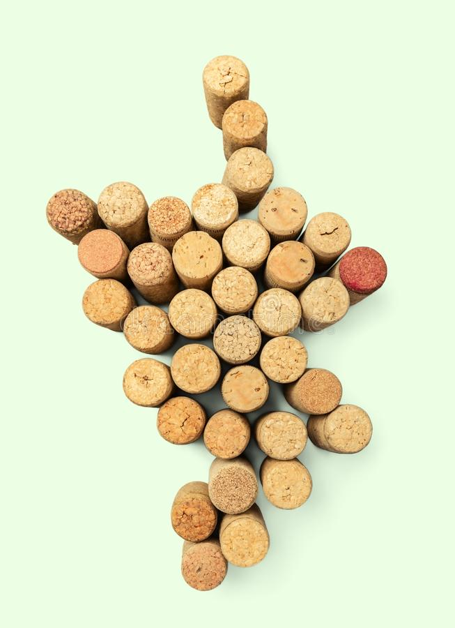 Wine corks as grape royalty free stock images