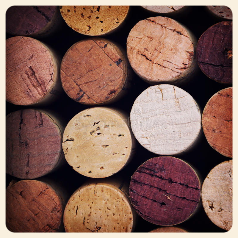 Wine corks old photo stock photos