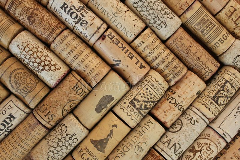 Wine corks pattern photography stock images