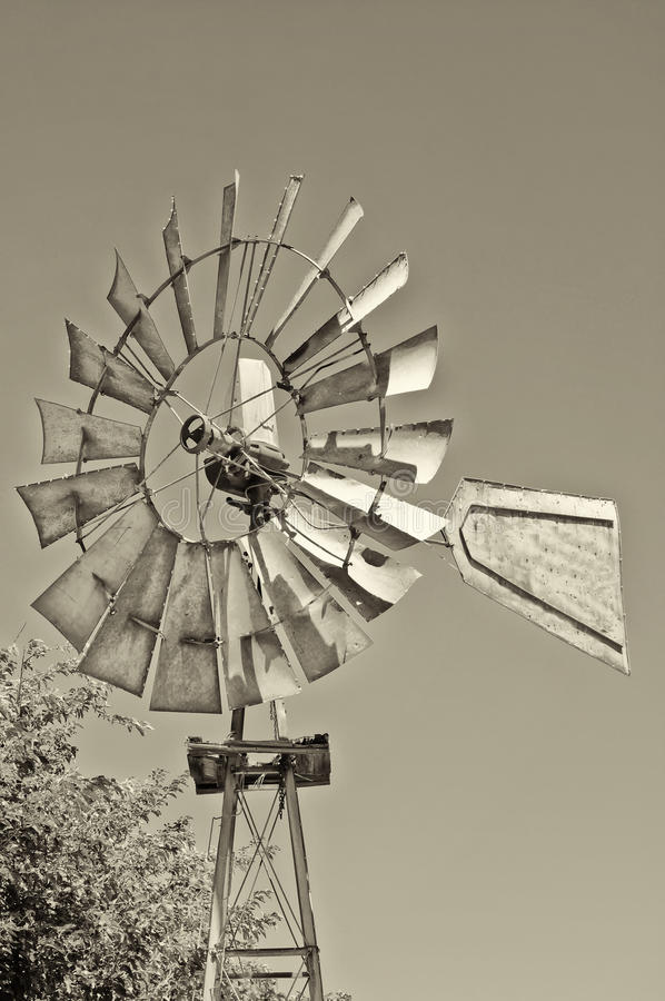 Wine Country Windmill, California royalty free stock photos