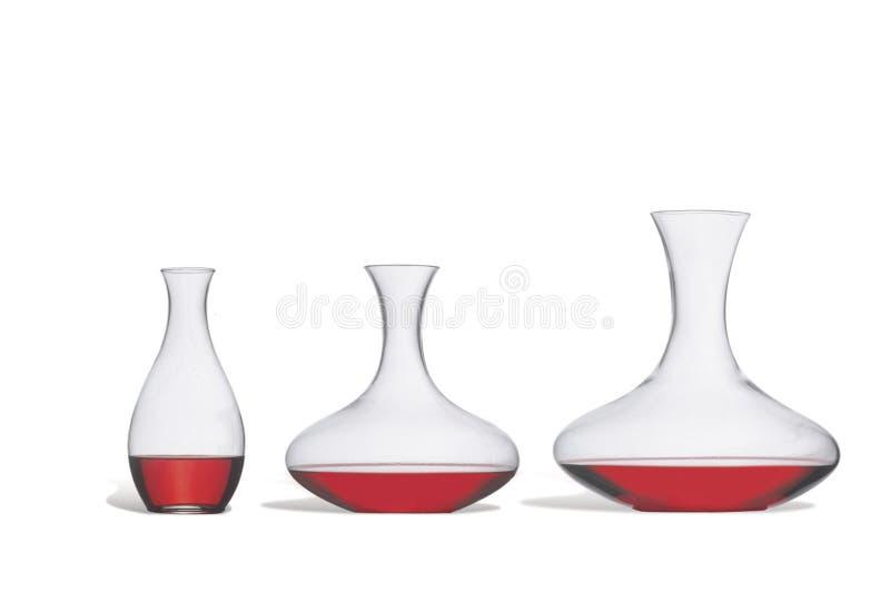 Wine decanters stock photos