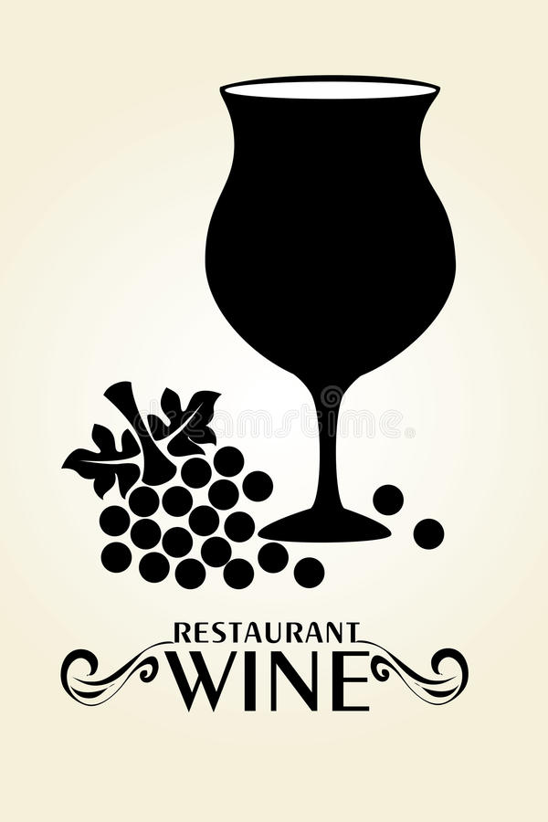 Wine design. Over beige background, vector illustration royalty free illustration