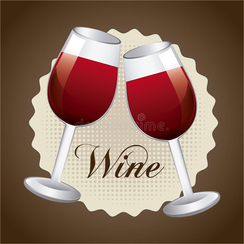 Wine design. Over brown background vector illustration royalty free illustration