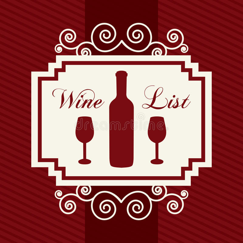 Wine design. Over red background vector illustration royalty free illustration
