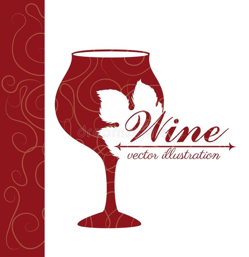 Wine design. Over white background vector illustration stock illustration