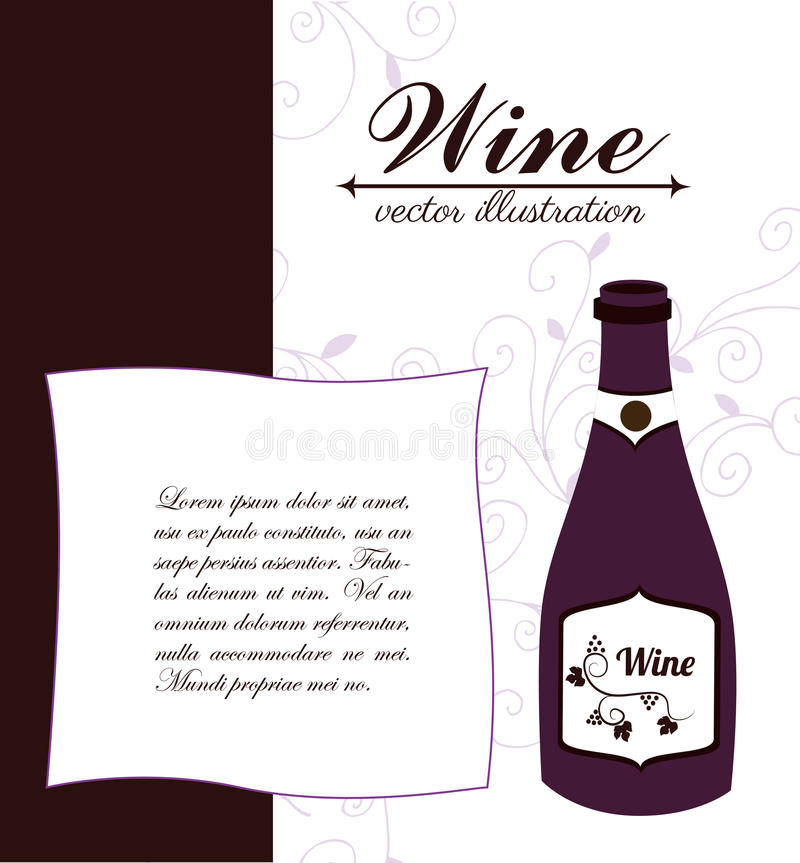 Wine design. Over white background, vector illustration vector illustration