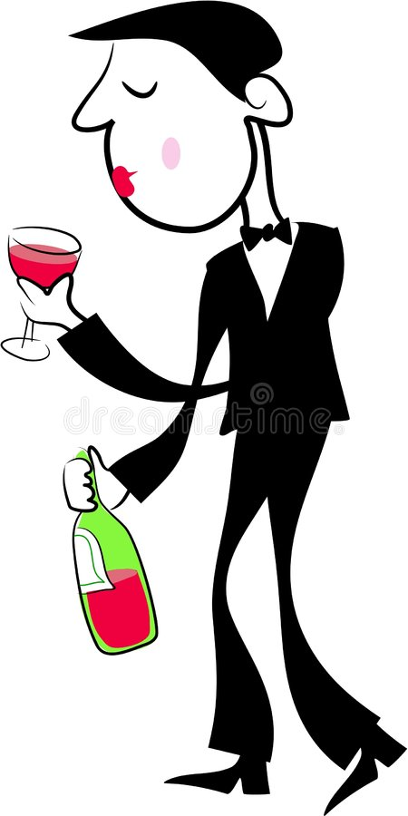 Download Wine Drinker stock vector. Image of illustrations, active - 116892